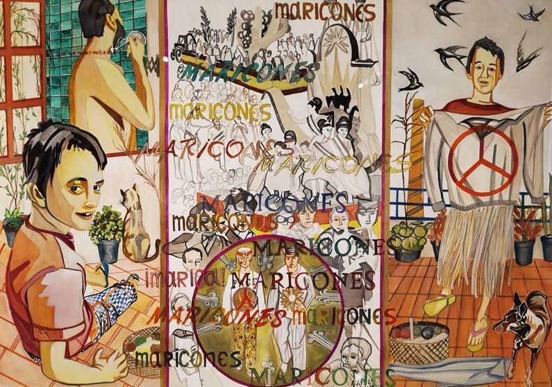 Obra de Pepe Carretero perteneciente a la exposición Pinturas homoeróticas.