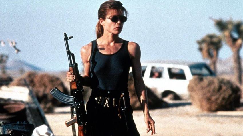 Linda Hamilton como Sarah Connor en Terminator 2