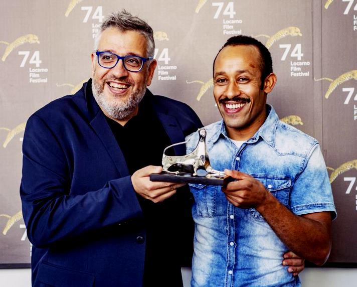 Valero Escolar y Mohamed Mellali. 74th Locarno Film Festival. URS FLUEELER