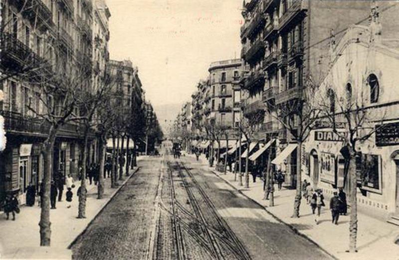 Calle Aribau de Barcelona.