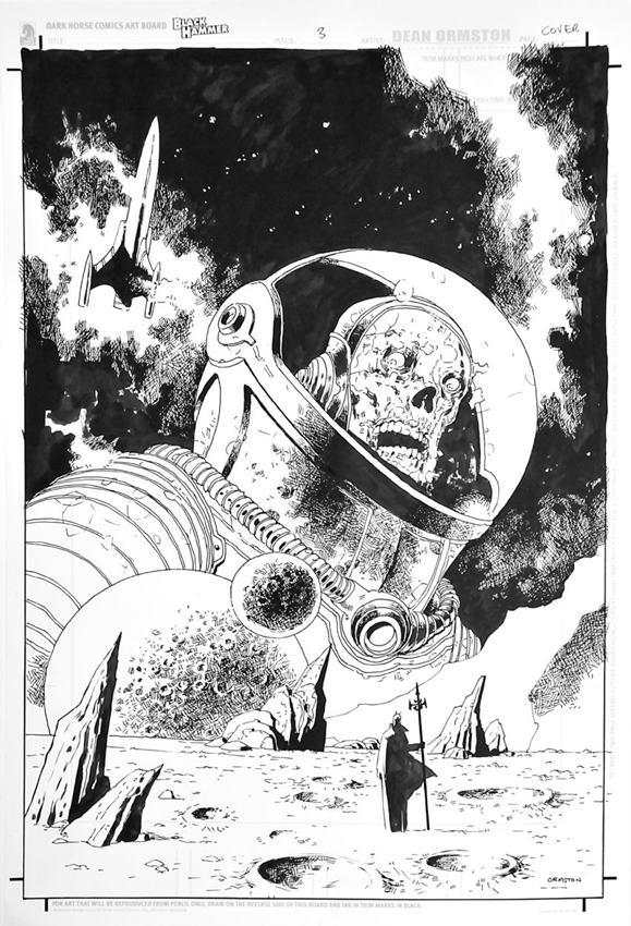 El arte de Dean Ormston para Black Hammer.