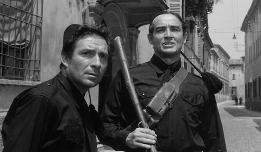 Ugo Tognazzi y Vittorio Gassman. La marcha sobre roma.
