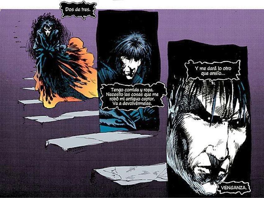 Morfeo en busca de venganza dibujado por Sam Kieth