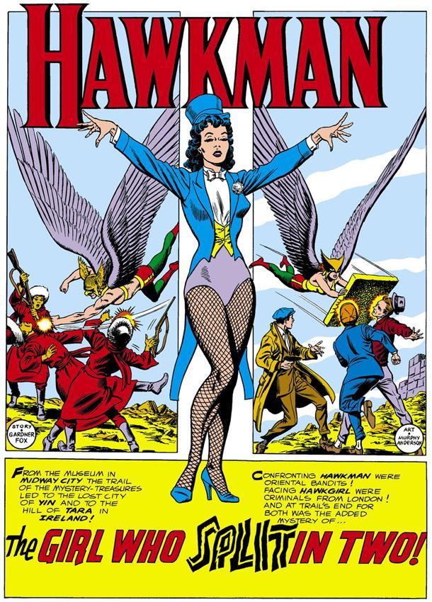 Primera aparición de Zatanna en el número 4 de Hawkman.