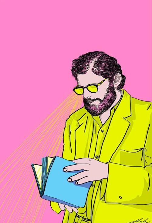 Ilustración del poeta Allen Ginsberg.