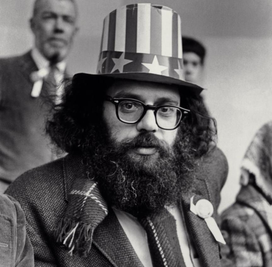 El poeta Allen Ginsberg fue uno de los principales representante de la Generación Beat.