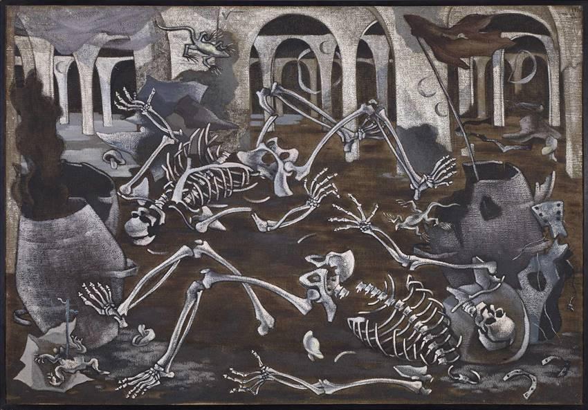Antro de fósiles, Maruja Mallo (1930).