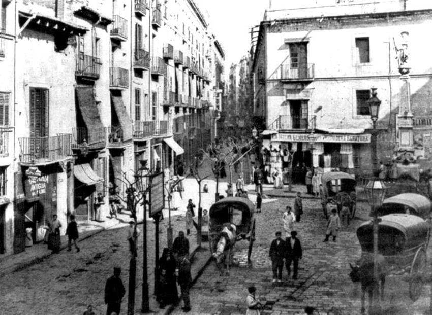 Barrio chino (hoy Raval) de Barcelona.