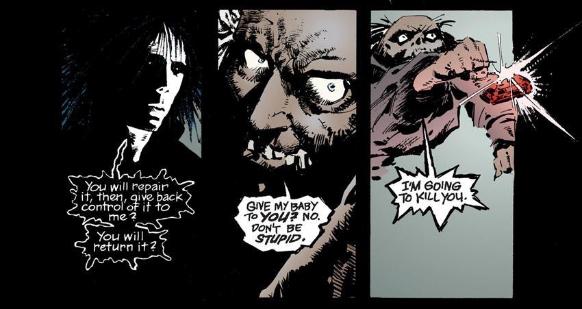Morfeo y John Dee en The Sandman.