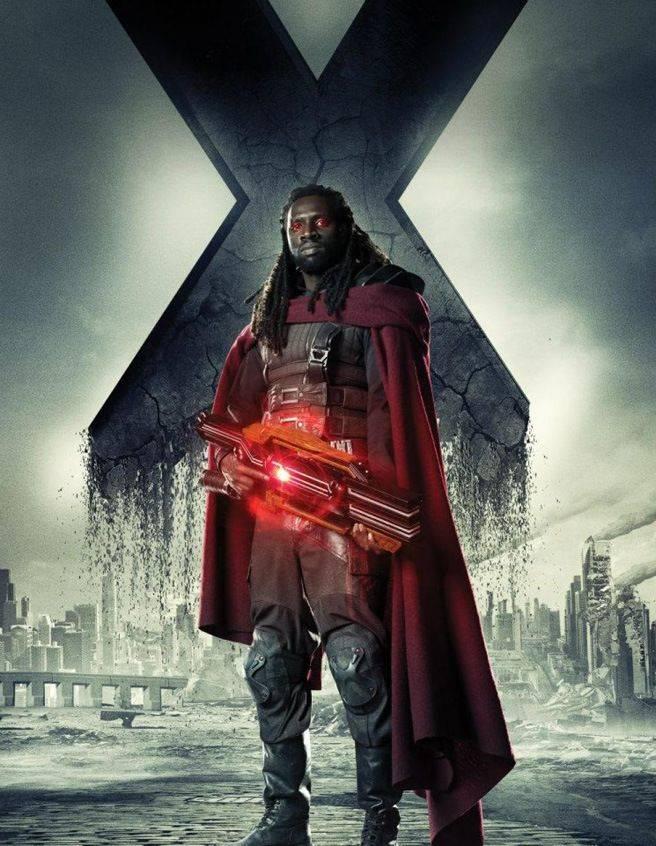 Omar Sy como Bishop. X-Men: Días del futuro pasado.