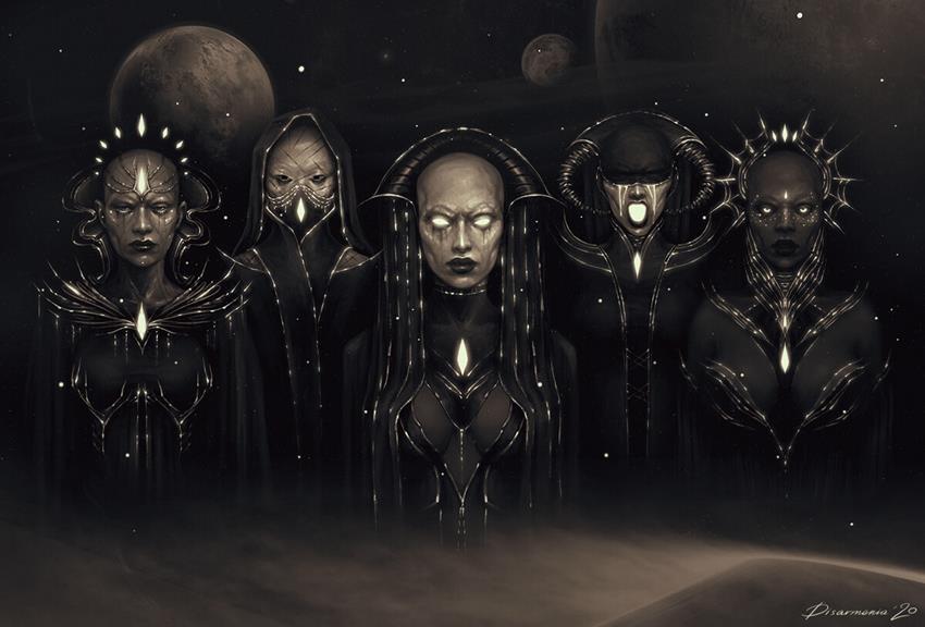 Bene Gesserit. Ilustración de Veronica Anrathi. Dune.