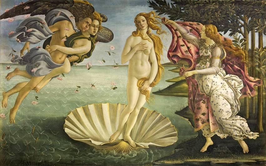 El nacimiento de Venus, de Botticelli. Aquel vivir del mar.