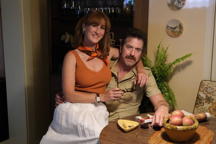 Karine Gonthier-Hyndman y Patrice Robitaille en Felizmente casados.