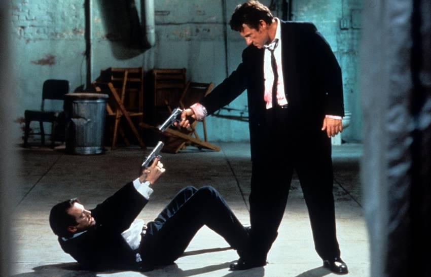 Steve Buscemi y Harvey Keitel en Reservoir Dogs de Tarantino.