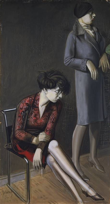Doble retrato de Hilde II. Obra de Karl Hubbuch. Museo Thyssen.