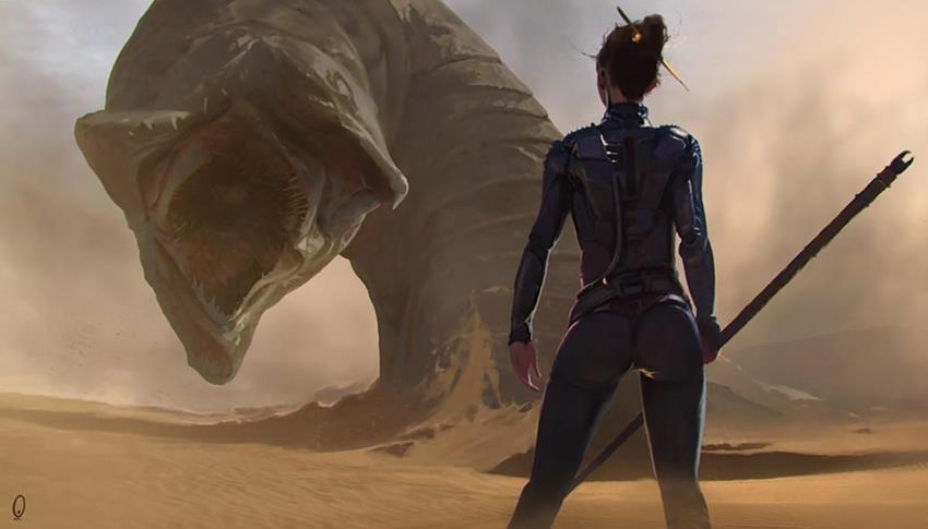 Los famosos gusanos de las arenas de Dune.