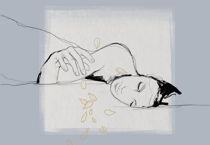 Un detalle de la portada de Fragilidades de Sara Búho. Ilustración de Norte.oo.