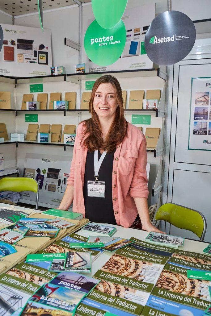 Laura Solana durante la Feria del Libro de Madrid.