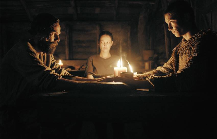 Carel Nel, Monique Rockman y Alex van dyk en Gaia.