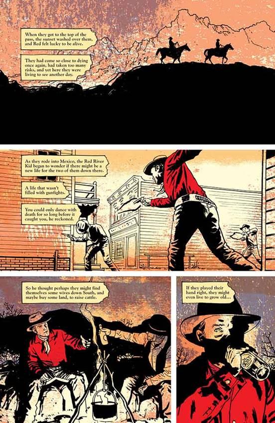 Red Rock Kid en Pulp de Ed Brubaker y Sean Phillips.