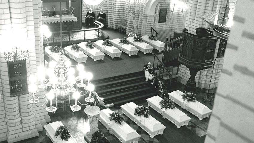 Funeral Scandinavian Star. Foto: Bent Jacobsen.